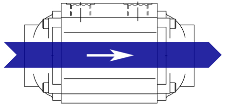 Diagram of a 1 pass oil cooler